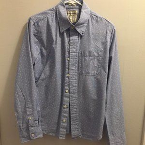 A&F Muscle Blue LS Button Down Collared Shirt
